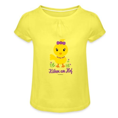 Ostern für kleine Mädchen - Mädchen-T-Shirt mit Raffungen