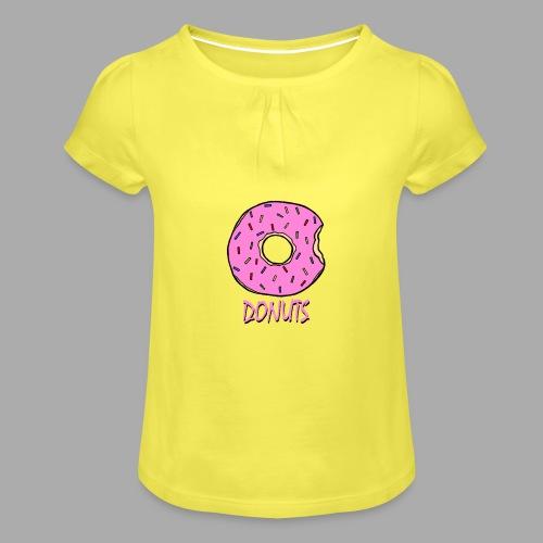 DONUTS - Camiseta para niña con drapeado
