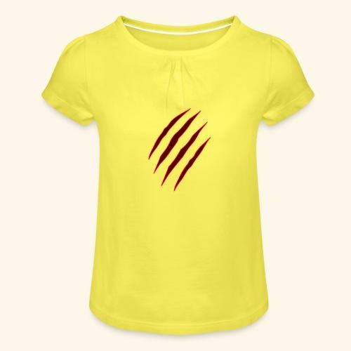 garras - Camiseta para niña con drapeado