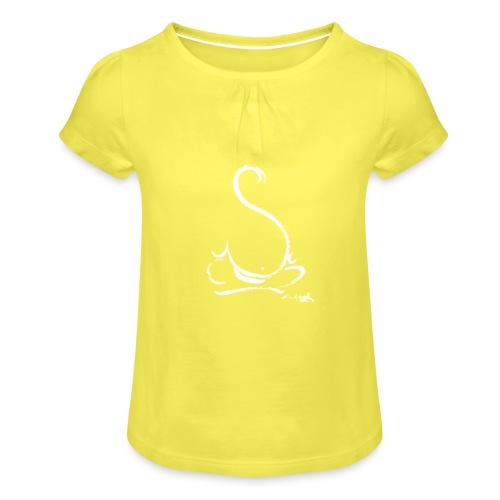buddha BIANCO - Maglietta da ragazza con arricciatura