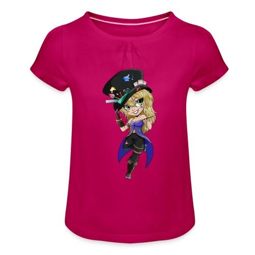 Lady Thalandir - T-shirt à fronces au col Fille