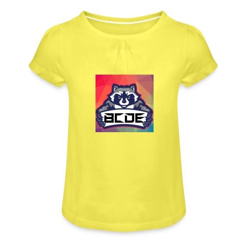 bcde_logo - Mädchen-T-Shirt mit Raffungen