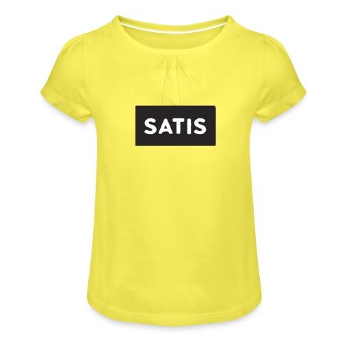 satis - T-shirt à fronces au col Fille
