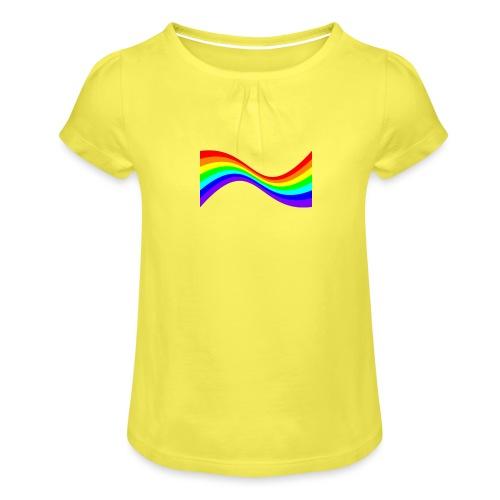 7ssLogo - Girl's T-Shirt with Ruffles