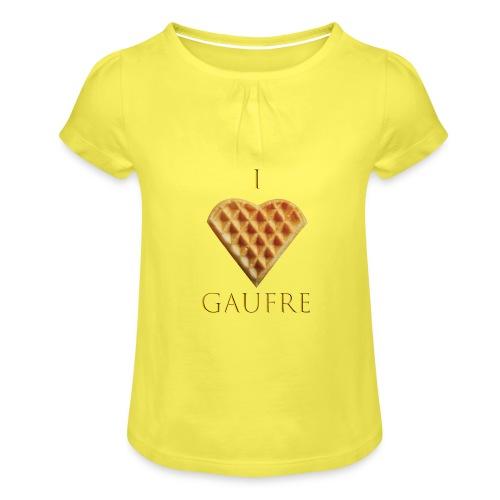 i love gaufre - T-shirt à fronces au col Fille