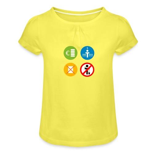 4kriteria ubi vierkant trans - Meisjes-T-shirt met plooien