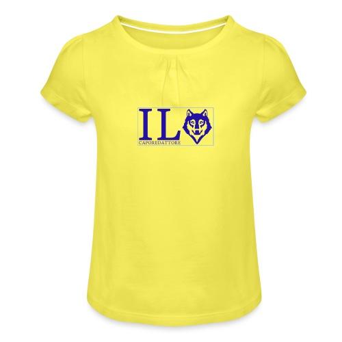 logo small - Maglietta da ragazza con arricciatura
