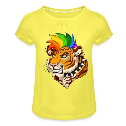Punk Tiger - Koszulka dziewczęca z marszczeniami