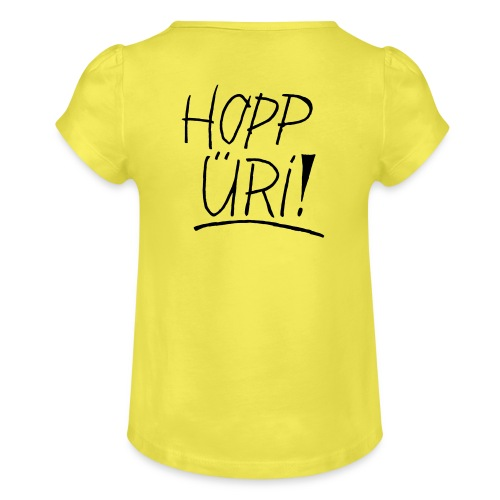 Hopp Üri - Mädchen-T-Shirt mit Raffungen