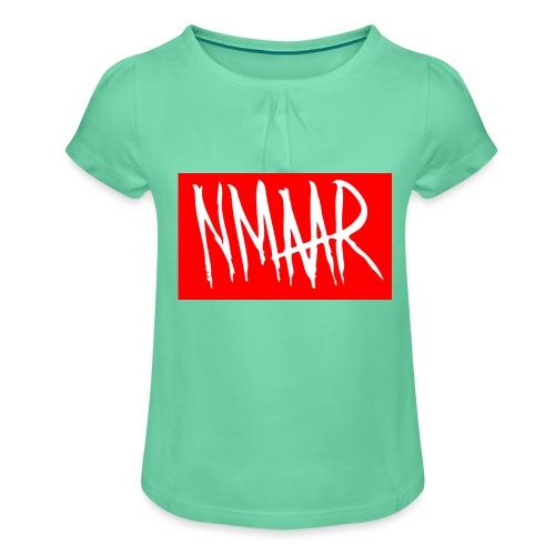 Logo Shirt - Pige T-shirt med flæser