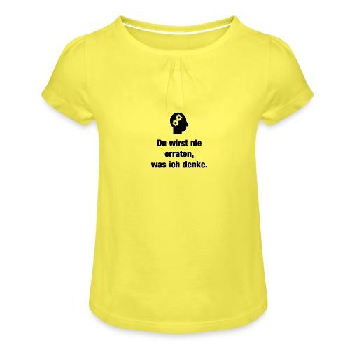 Der Denker - Mädchen-T-Shirt mit Raffungen