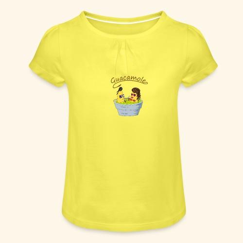 Guacamole - Camiseta para niña con drapeado