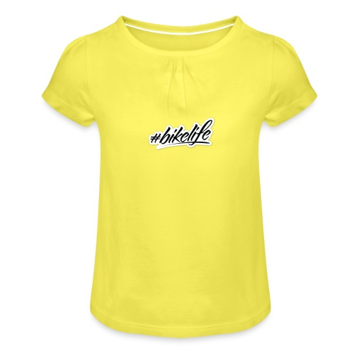 Bike life - Girl's T-Shirt with Ruffles
