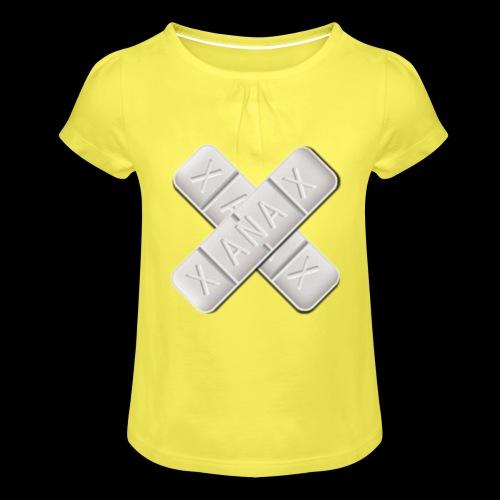 Xanax X Logo - Mädchen-T-Shirt mit Raffungen
