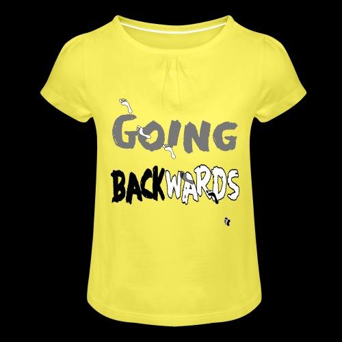backwardgoing - Mädchen-T-Shirt mit Raffungen