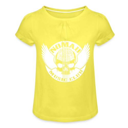 front print - Girl's T-Shirt with Ruffles