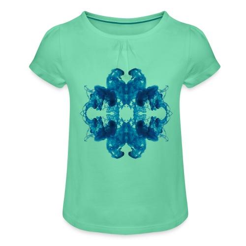 Tintenklecks unter Wasser - Mädchen-T-Shirt mit Raffungen