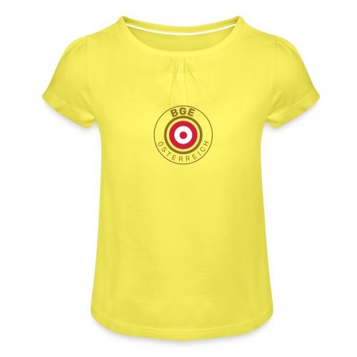 BGE in Österreich mit Fahne - Mädchen-T-Shirt mit Raffungen