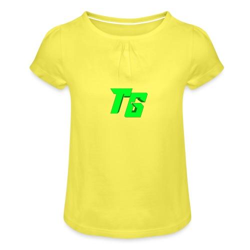 Tristan Jeux marchandises logo - T-shirt à fronces au col Fille