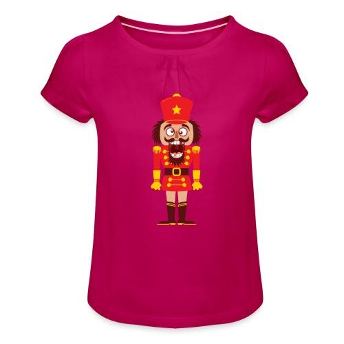 A Christmas nutcracker is a tooth cracker - Girl's T-Shirt with Ruffles