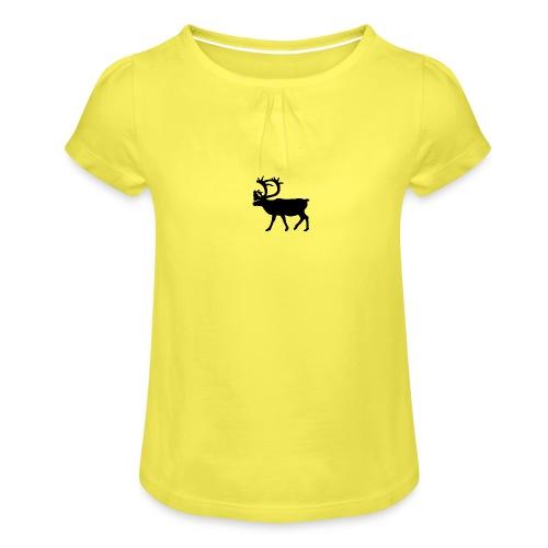 Le Caribou - T-shirt à fronces au col Fille