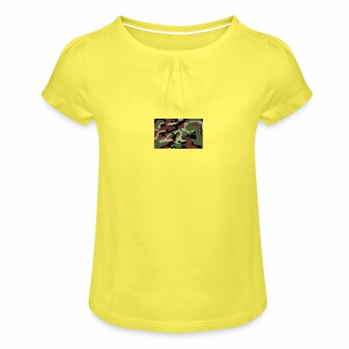 camu - Camiseta para niña con drapeado