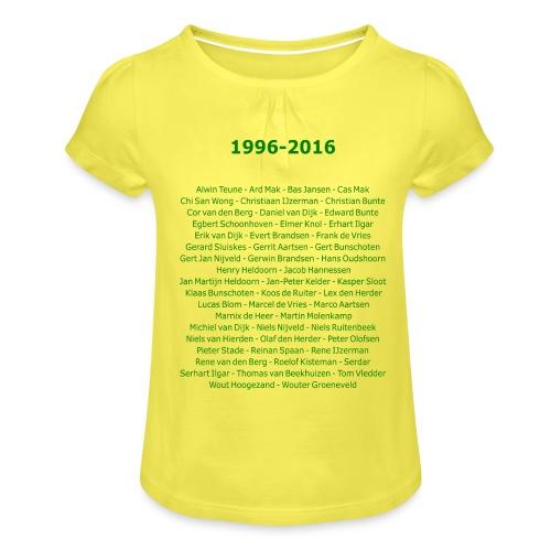 tekening4 - Meisjes-T-shirt met plooien