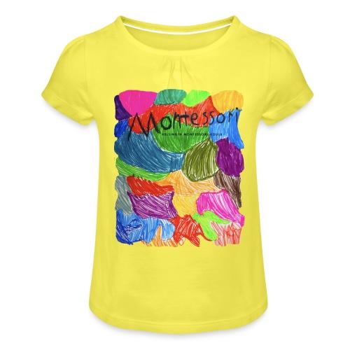 Coloured Montessori - Tyttöjen t-paita, jossa rypytyksiä