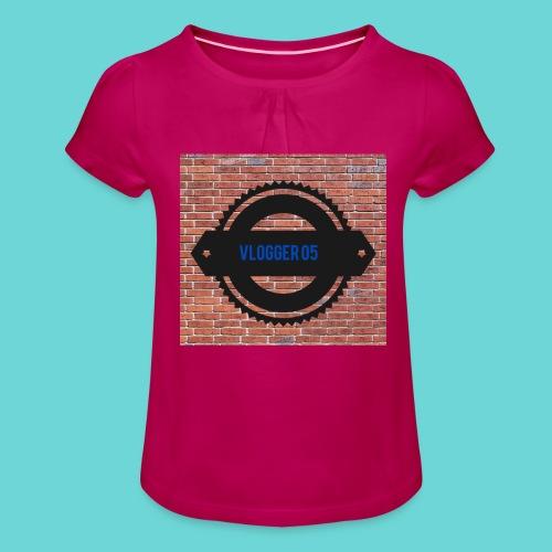 Brick t-shirt - Girl's T-Shirt with Ruffles