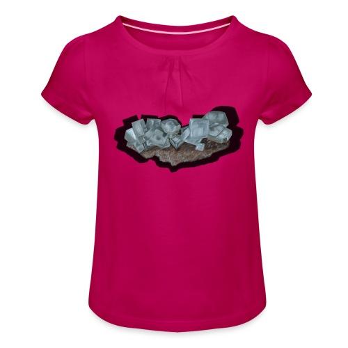 Halit-Kristallstufe - Mädchen-T-Shirt mit Raffungen