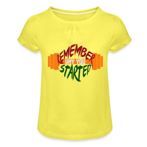 fitness draw - T-shirt à fronces au col Fille