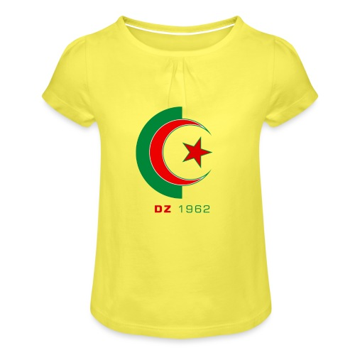 logo 3 sans fond dz1962 - T-shirt à fronces au col Fille