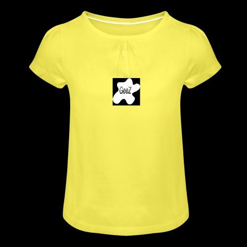 Black/white Art - Girl's T-Shirt with Ruffles