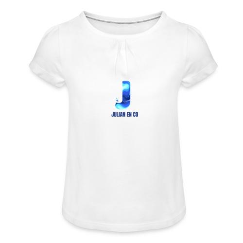 JULIAN EN CO MERCH - Meisjes-T-shirt met plooien