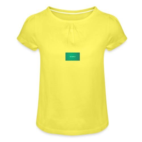 backgrounder - Mädchen-T-Shirt mit Raffungen