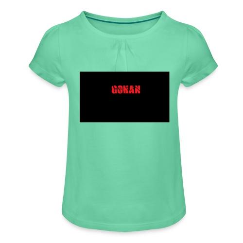 logo - Maglietta da ragazza con arricciatura