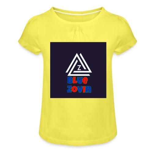 BlueZovinshirt - Girl's T-Shirt with Ruffles