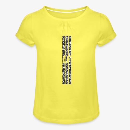 LF camo stripes - T-shirt med rynkning flicka