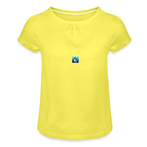 t-shirt - Meisjes-T-shirt met plooien