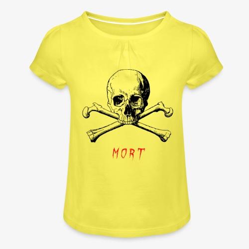MORT - T-shirt à fronces au col Fille