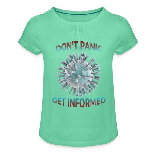 coronavirus - Camiseta para niña con drapeado