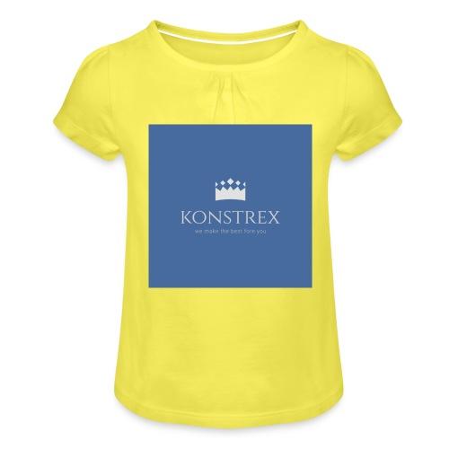 konstrex - Pige T-shirt med flæser