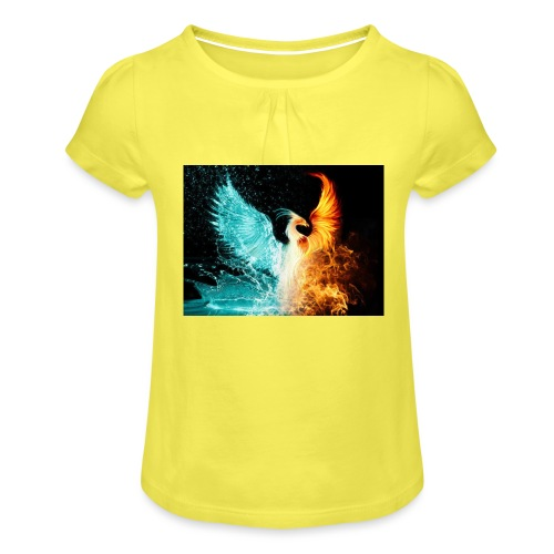 Elemental phoenix - Girl's T-Shirt with Ruffles
