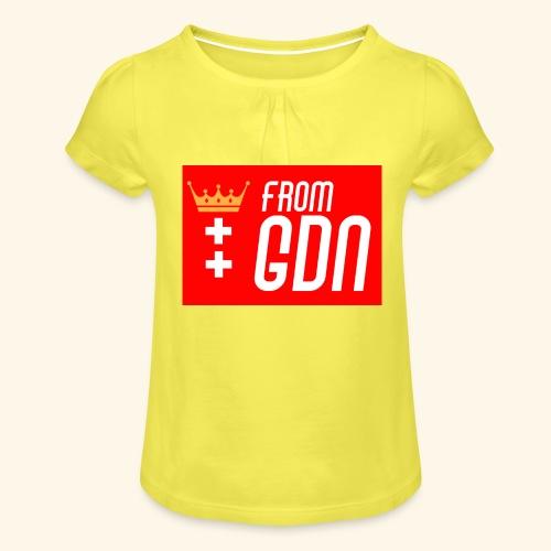 #fromGDN - Koszulka dziewczęca z marszczeniami