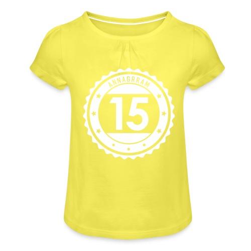 Annagrram - 15 - T-shirt à fronces au col Fille