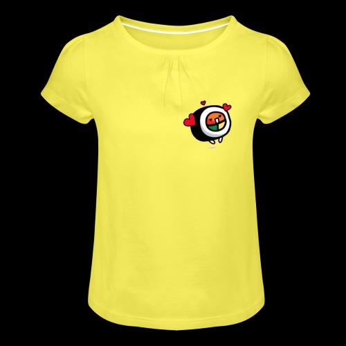 kleine Rolle - Mädchen-T-Shirt mit Raffungen