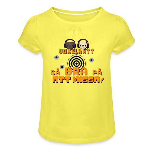 Voxelkatt BRA PÅ ATT MISSA - T-shirt med rynkning flicka