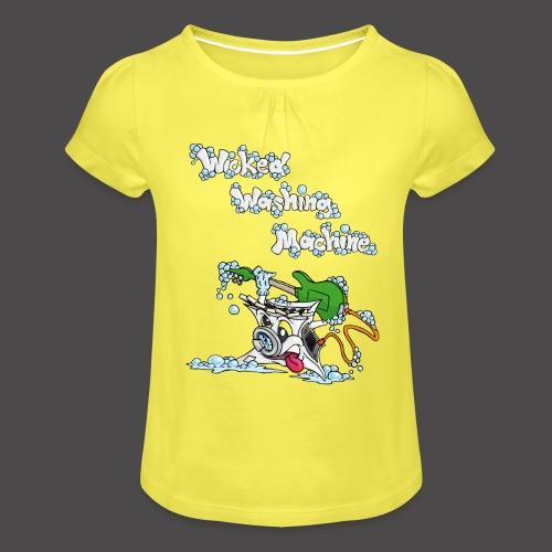 Wicked Washing Machine Cartoon and Logo - Meisjes-T-shirt met plooien