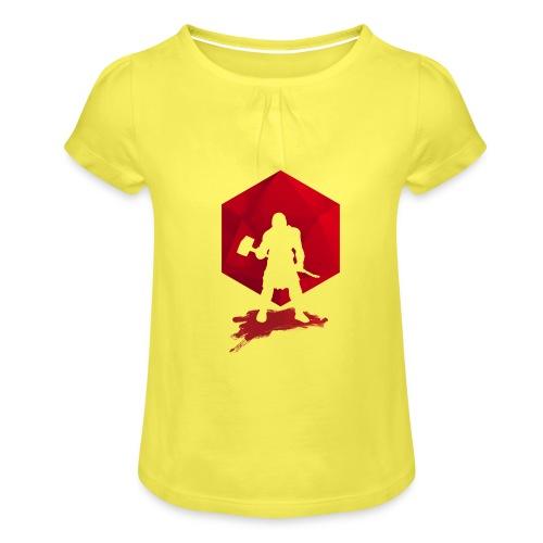 Brutal Barbarian - Dungeons and Dragons dnd d20 - Tyttöjen t-paita, jossa rypytyksiä