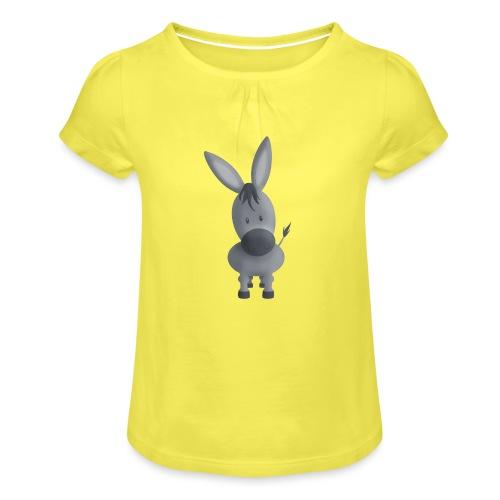 Esel Emil - Mädchen-T-Shirt mit Raffungen